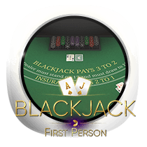 Blackjack card-and-table