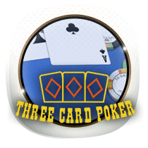Three Card Poker card-and-table